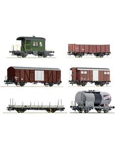 Roco 76051 H0 kit 6 pz. vagone merci di SBB