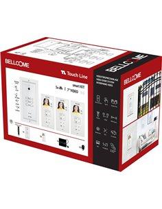 Bellcome VKM.P3F3.T3S4.BLW04 Kit completo Video citofono Cablato 20 parti Bianco