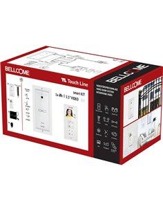 Bellcome VKM.P1F3.T3S4.BLW04 Kit completo Video citofono Cablato 8 parti Bianco