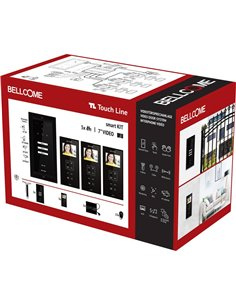 Bellcome VKM.P3F3.T3S4.BLB04 Kit completo Video citofono Cablato 20 parti Nero