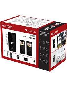 Bellcome VKM.P2F3.T3S4.BLB04 Kit completo Video citofono Cablato 14 parti Nero