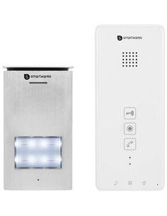 Smartwares DIC-21112 Citofono 2 fili Kit completo Casa Monofamiliare Argento, Bianco