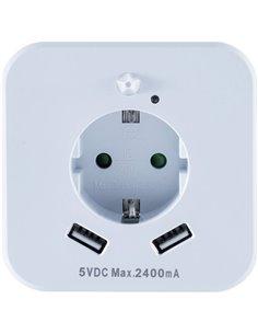InnTec SLED02 Luce notturna LED con sensore di movimento LED (monocolore) Bianco caldo Bianco