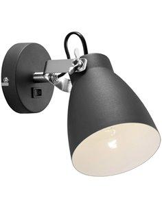 Nordlux Largo 47051003 Faretto da parete E27 Classe energetica: a seconda della lampada 25 W LED Nero