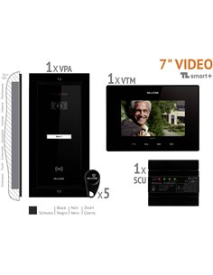 Bellcome VKM.P1FR.T7S4.BLB04 Video citofono Cablato Kit completo Casa Monofamiliare Nero
