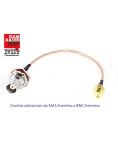 Cavetto adattatore da SMA Femmina a Femmina BNC lunghezza 20 cm RG-316 teflon