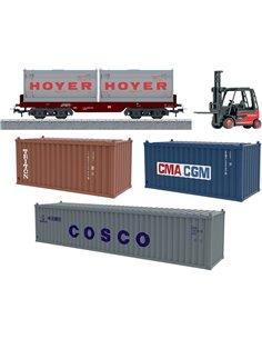 Kit espansione logistica container in scala H0 Märklin Start up 78452