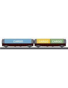 Märklin World 44109 Kit 2 vagoni porta container H0