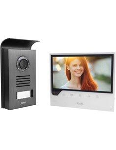 Extel 720308 Video citofono IP WLAN, 2 fili Kit completo Casa Monofamiliare Nero, Bianco