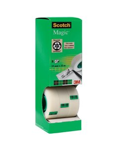 Scotch 7100026960 Nastro adesivo Scotch® Magic™ 810 Opaco (L x L) 33 m x 19 mm 8 Rotolo(i)