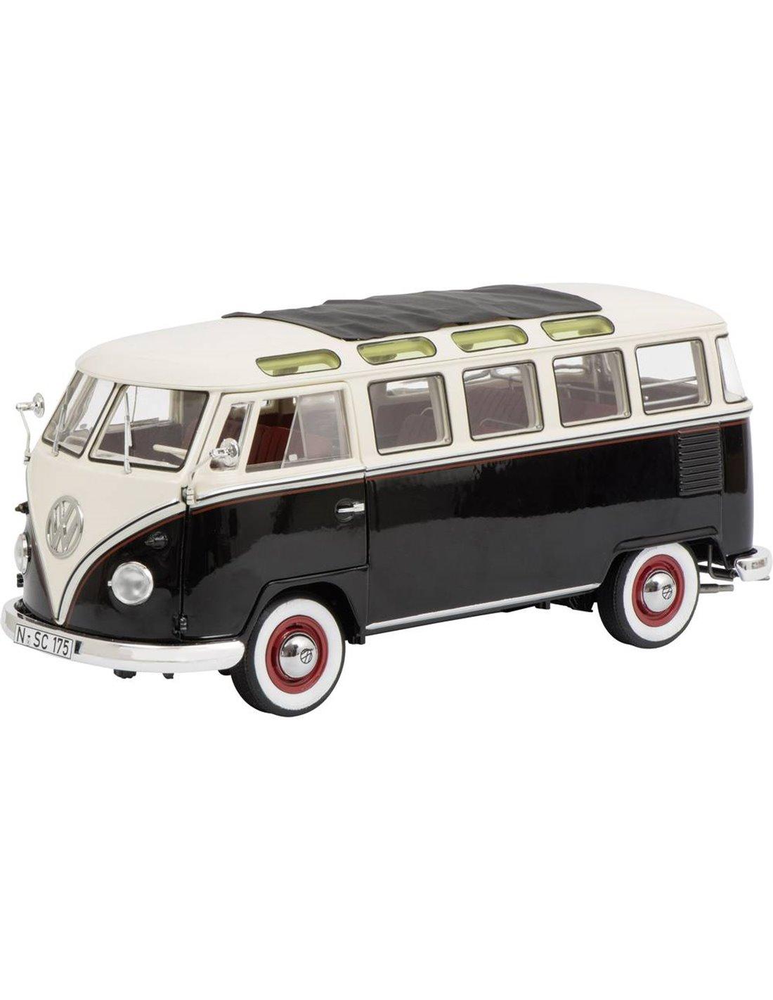 Schuco 450028700 1 18 Volkswagen T1b Samba bianco e nero