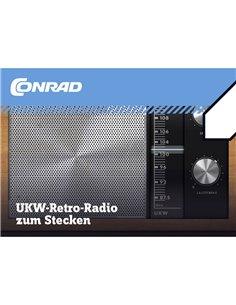Conrad Components 10196 UKW-Radio zum Stecken Radio Retrò