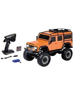 Carson Modellsport Land Rover Defender Arancione 1:8 Automodello Elettrica Fuoristrada 4WD RtR 2,4 GHz