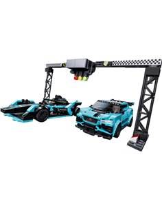 76898 LEGO® SPEED CHAMPIONS Formula E Panasonic Jaguar Racing GENT2 car & Jaguar I-PACE eTROPHY