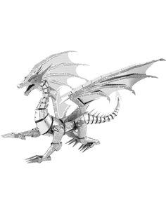 Kit di metallo Metal Earth Iconx Silver Dragon